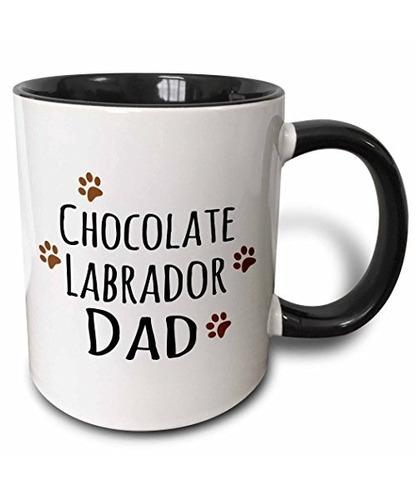 3drose (mug_153888_4) Chocolate Labrador Dog Dad - Perrit