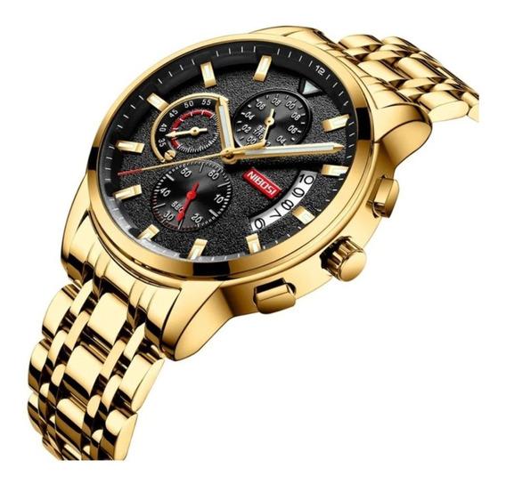 Relógio Masculino Nibosi 2358 Cronográfo 100% Funcional