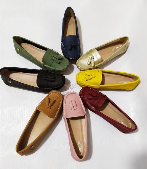 Calçado Feminino Sandalia Mocassim 9 Cores