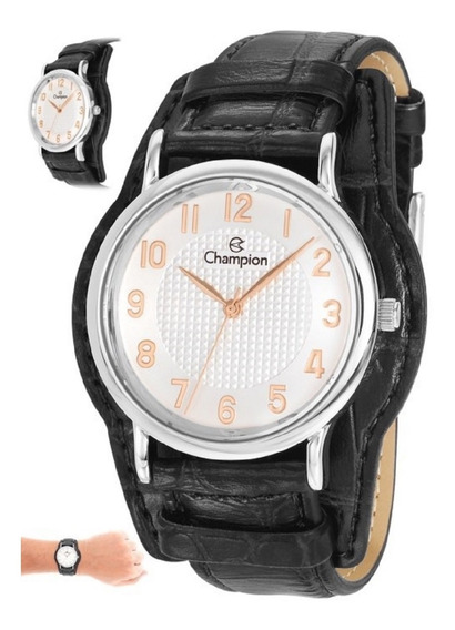 Relógio Champion Feminino Cn20275q Pulseira Couro