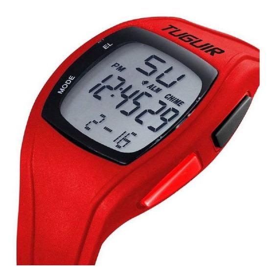 Relógio Unissex Digital Esporte Tg1602 - Vermelho - Original