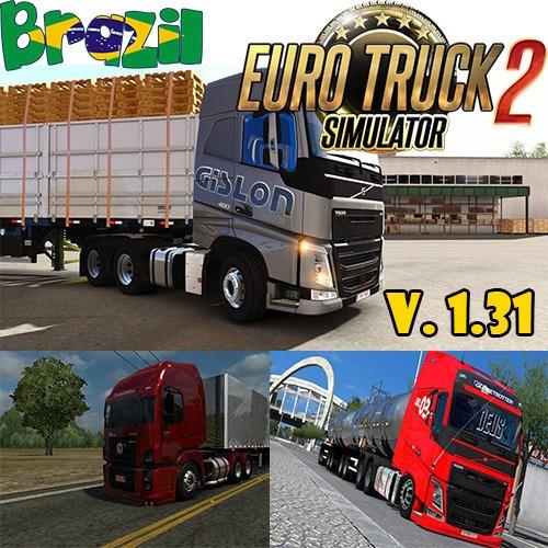 Euro Truck Simulator 2 Mod Brasil + Caminhões Brasileiros