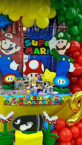 Kit Piñata Mario Bros Fiesta Cumpleaños + Obsequio