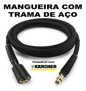 Mangueira Malha Aço 25 Metros Para Lava Jato Karcher Hd585