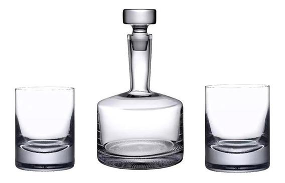 Set Whisky Pasabahce Botella Decanter 2 Vasos 1100ml Palermo