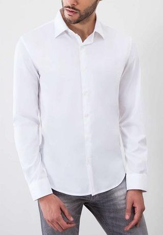 Camisa Slim Branca + Calça Slim Cinza + Supensório + Sapato