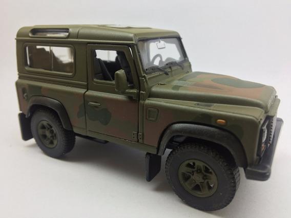 Miniatura Land Rover Defender Do Exercito Escala 1/43