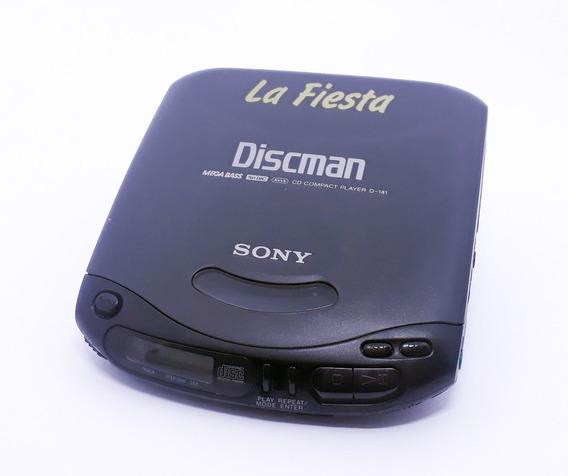 Discman Sony D-141 La Fiesta (não Lê O Cd) - P/ Colecionador