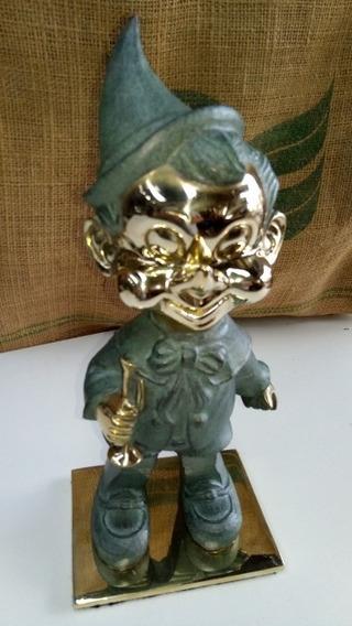 Pinoquio Em Bronze Maciço