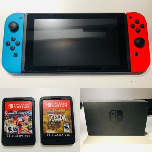 Nintendo Switch 32gb + 2 Juegos + Funda + 1 Semana De Uso