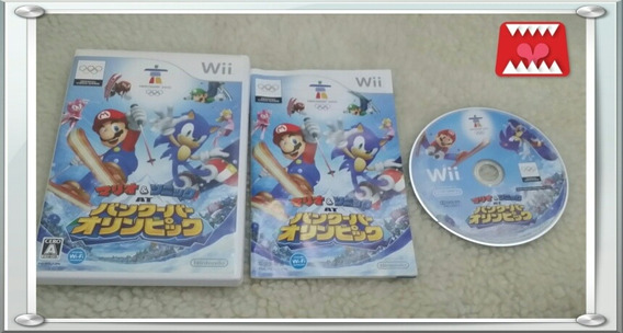 Mario & Sonic At The Olympic Winter Games Nintendo Wii Japo.