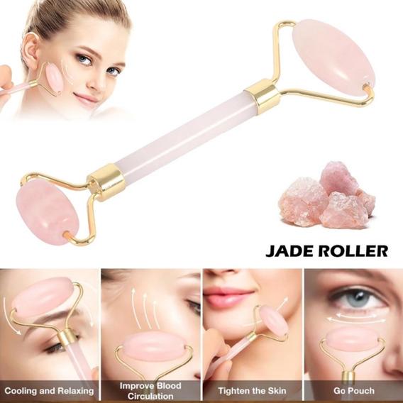 Rodillo Facial Cuarzo Rosa