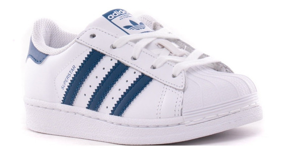 adidas Zapatillas Superstar Infantil Blanco / Azul