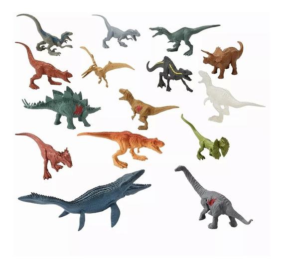 Jurassic World Conjunto Com 15 Dinossauros - Mattel