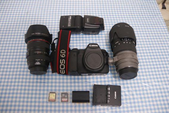 Kit Canon Eos 6d + Lente 24-105mm +70-200mm