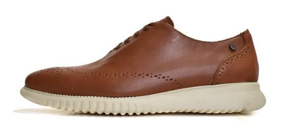 Zapato Casual De Piel Miel Y Suela De Eva 2601