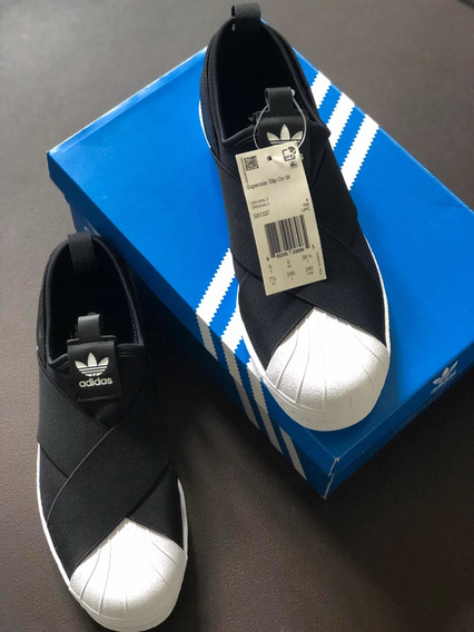 adidas Slip On Superstar Preto Original 71/2 Usa