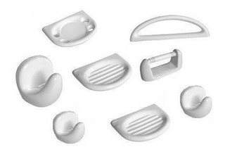 Accesorio Baño Kit Set 8 Pzs Porcelana Blanco Daccord Loza