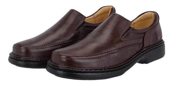 Sapato Masculino Promoçao Conforto 100% Em Couro 2001.