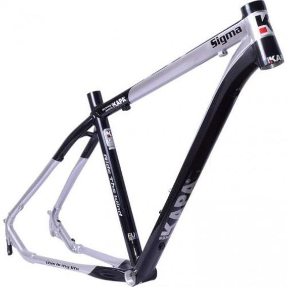 Quadro 29 Kapa Sigma Aluminio Preto/prata Tamanho 17 - Kapa Bikes