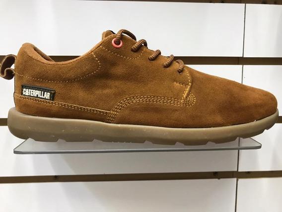 Zapato Cat Punta De Acero 100% Cuero -made In Brasil -hombre