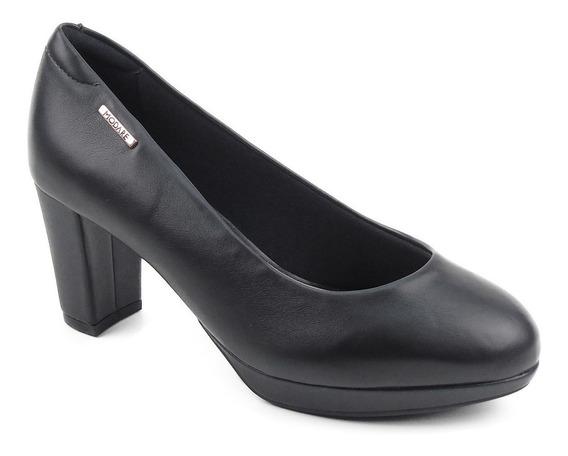 Sapato Social Feminino Salto Alto Preto Fosco Modare