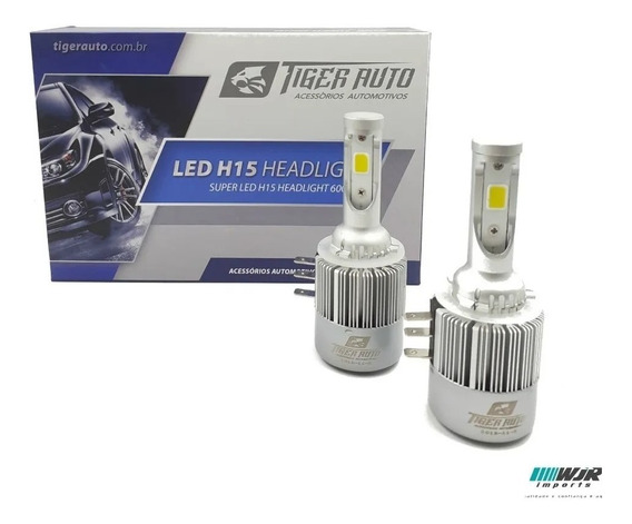 Kit Lampada Super Led H15 12/24v Power 36w 6000k