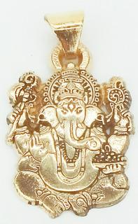 Ganesh O Ganesha Dije En Chapa De Oro 18 Kilates