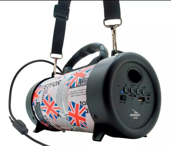 Caixa De Som Bluetooth + Bandoleira + Carregador