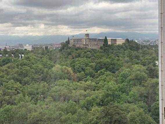 Anzures, Oficina De 90m2, Vista Al Castillo De Chapultepec,