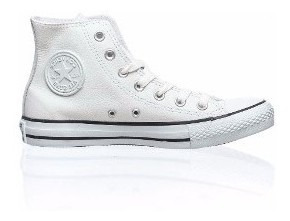 Bota Converse Leather Cuero Blanca Original