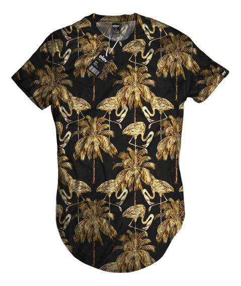 Camisetas Blusa Over Long Folhagem Santa Cruz - Top
