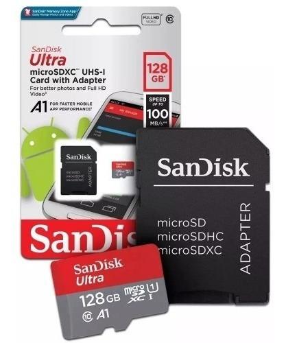 Cartao De Memoria Sandisk Micro Sdxc 100mb/s 128gb Gopro