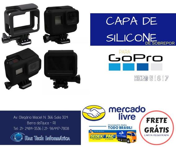 Capa De Silicone Case Protetor Gopro Hero 5/6/7 Frete Gratis