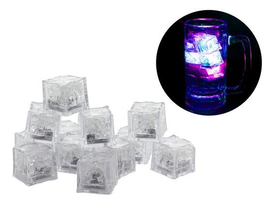 60 Cubos De Hielos Luminosos Led Sumergibles Antro Bar
