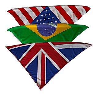 Pañoleta Seda Bandana Paises Inglaterra Estados U Y Brasil