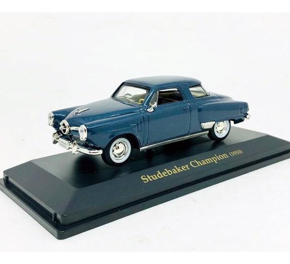 Miniatura Studebaker Champion 1950 Azul 1:43 Yat Ming 94249