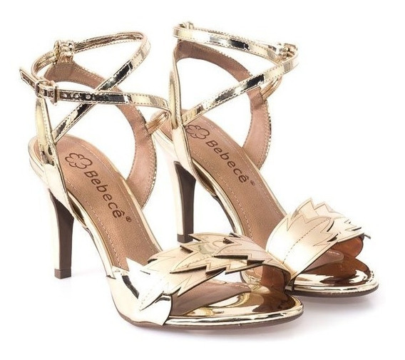 Sandália Bebece Ouro Claro 7510-351