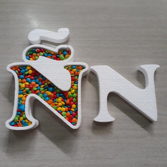 Letras Huecas 16 Cm En Polyfan Candy Bar Cumpleaños
