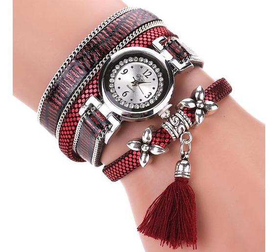 Relógio Duoya Quartzo Feminino Moda Serpentina
