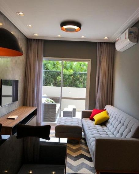 Apartamento Padrão Para Locação No Morumbi I 2 Dormitórios Sendo 1 Suíte I Garden I Mobiliado I 77m² I 2 Vagas - Ap1408