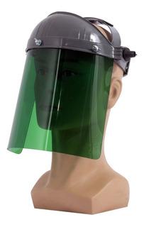 Protetor Facial Verde Claro Proteção Da Boca, Olho E Nariz