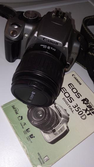 Canon Eos 350 D Rebel Xt Lente 18-55mm Y 75-300mm. C/estuche