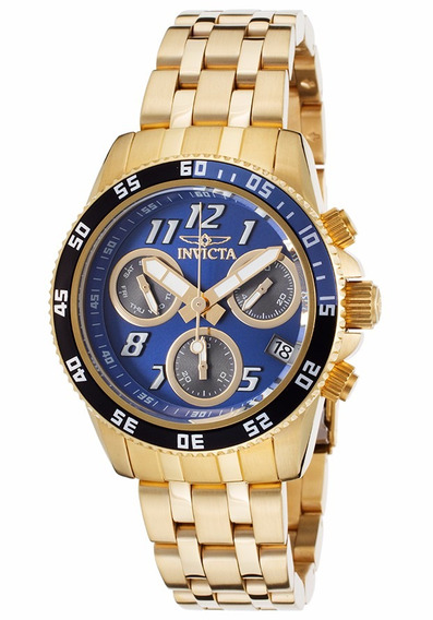 Relógio Invicta Pro Diver Dos Homens Cronógrafo De Ouro 18k