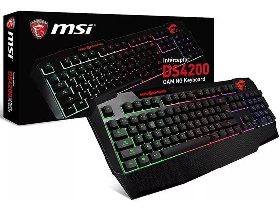 Teclado Usb Gamer Msi Semi Mecanico Ds4200
