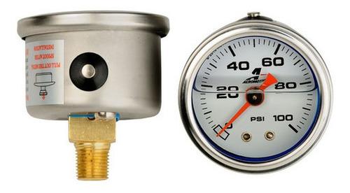 Reloj Presión De Combustible Manómetro 100 Psi Aeromotive