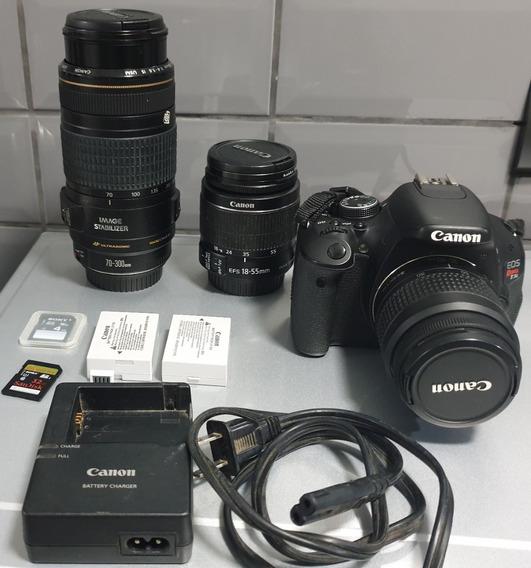 Câmera Canon T3i Nova Perfeita + Lentes,baterias,cartão