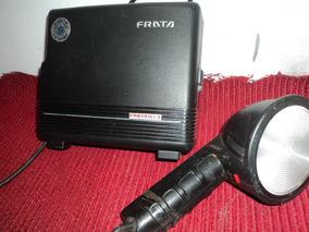 Flash/pra Fotografo Antigo /prata 161/s/ C/bolsa Couro Leia