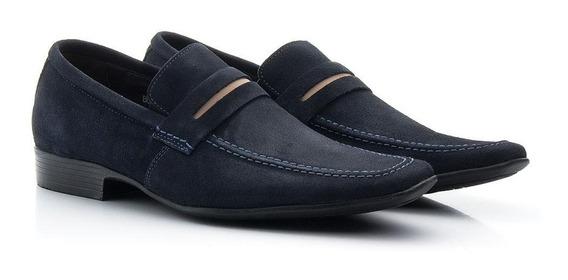 Sapato Masculino Mocassim Esporte Fino Couro Camurça Bigioni