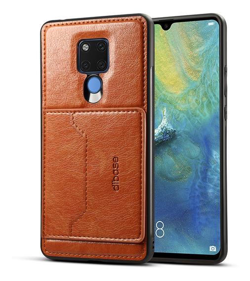 Para Huawei Mate 20x 2 Em 1 Retro Pu Carteira De Couro Supor